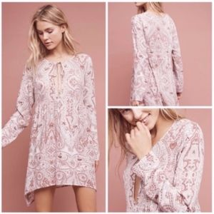 NWT LILKA X-Small Paisley Chemise Sleep GOWN Pink